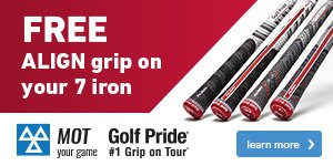 Get A Free ALIGN Grip On Your 7 Iron